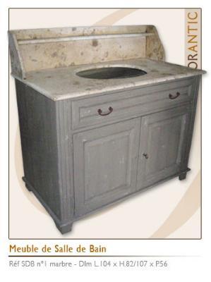 meuble salle de bain ancien avec marbre
